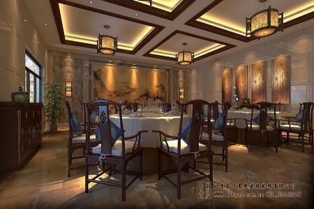 四合院酒店式餐厅设计效果图