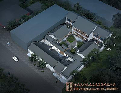 文化宫四合院会所中式装修