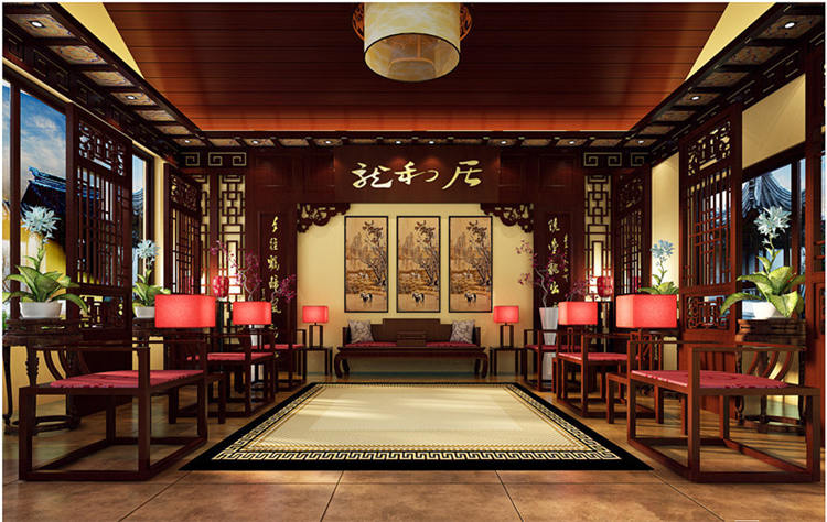 古典中式装修休闲会所设计