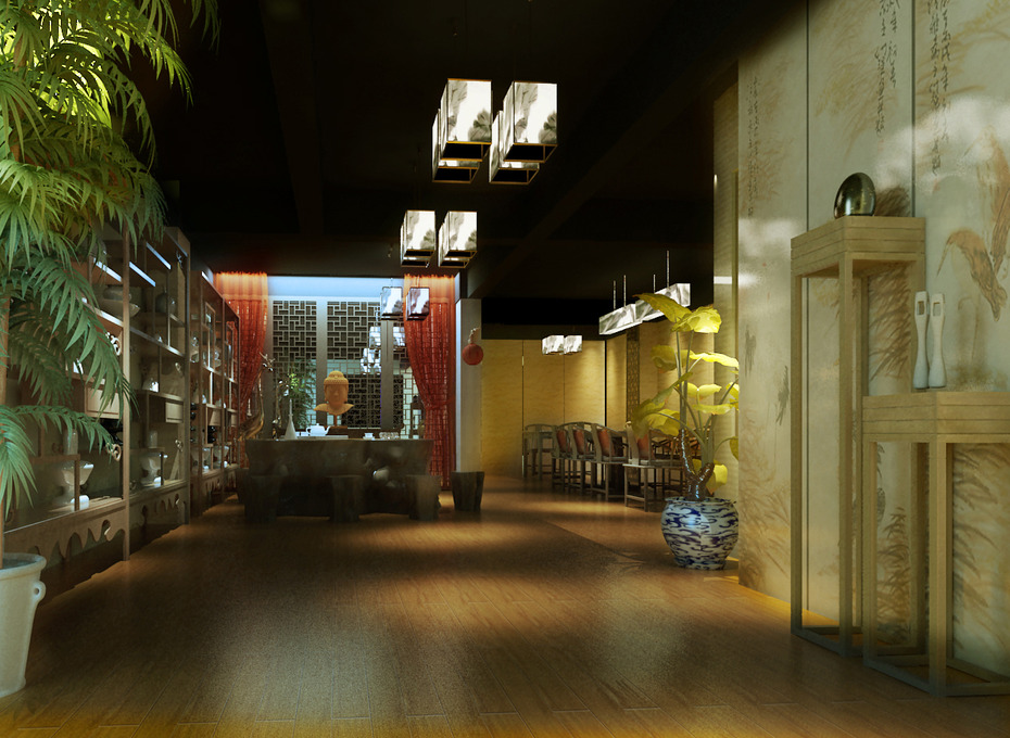 北京简约素雅会所中式装修