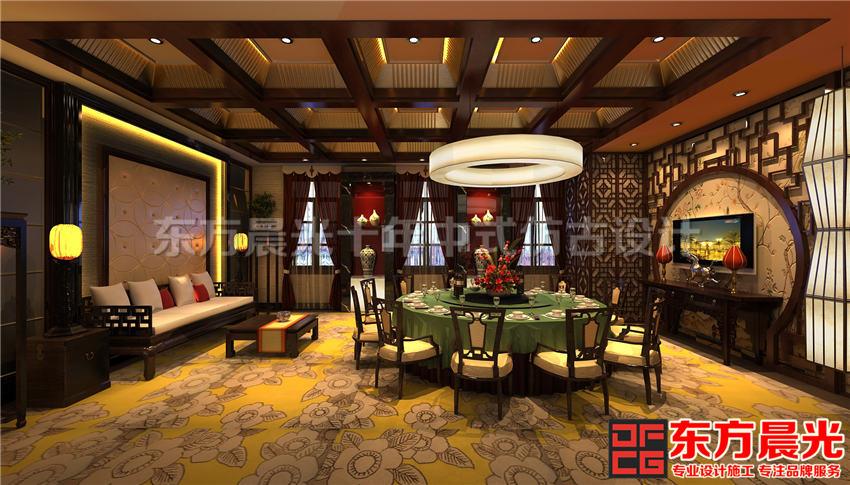中国风餐饮会所中式装修