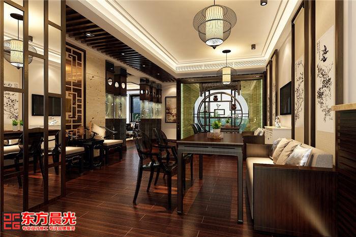 私人会所装修中式设计之茶餐区