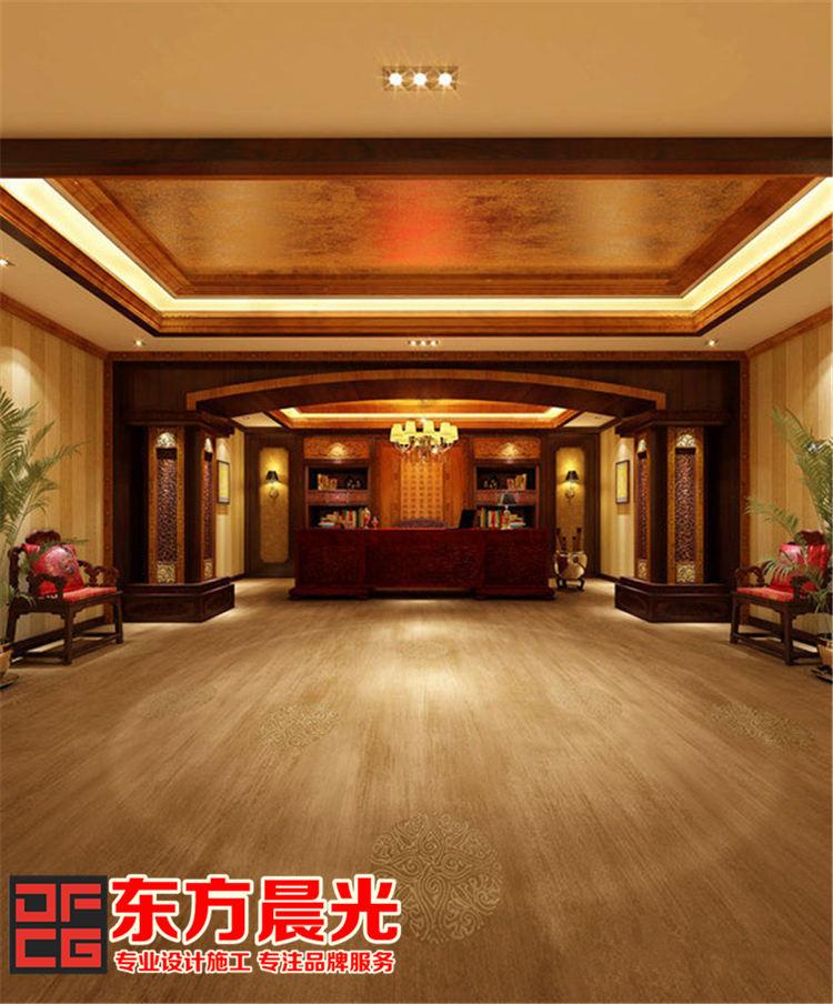 中式酒店会所装修设计-大堂