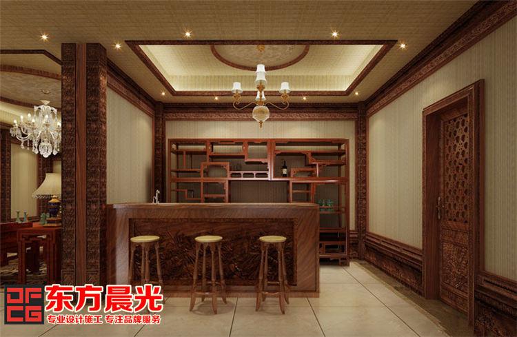 中式酒店会所装修设计-吧台