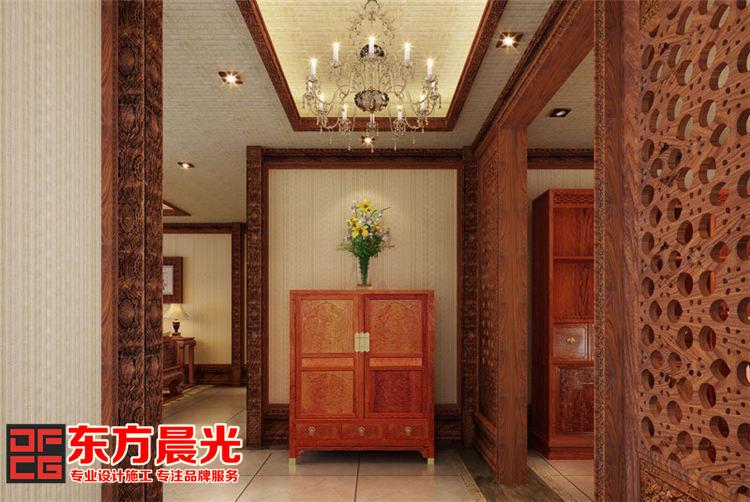 中式酒店会所装修设计-过道