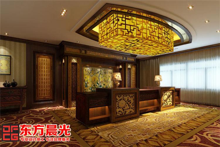 中式酒店会所装修设计-柜台