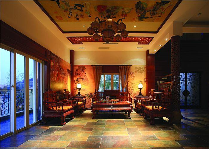 质朴古雅私人会所中式装修设计