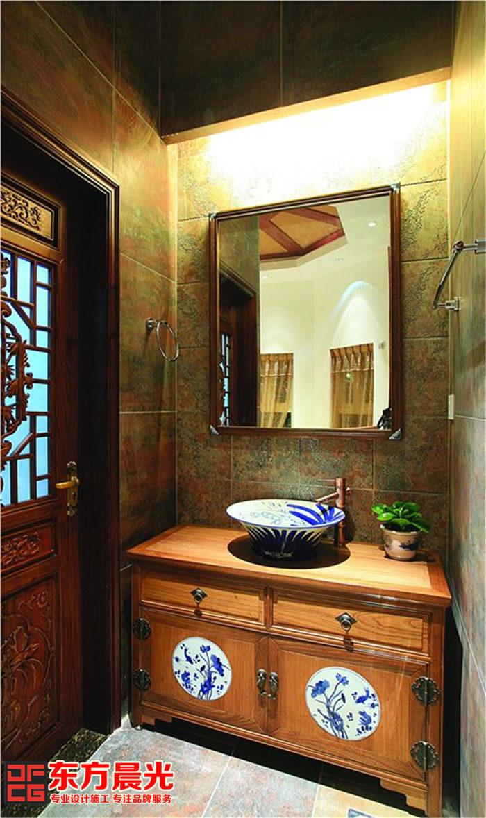私人会所中式装修设计 洗手间