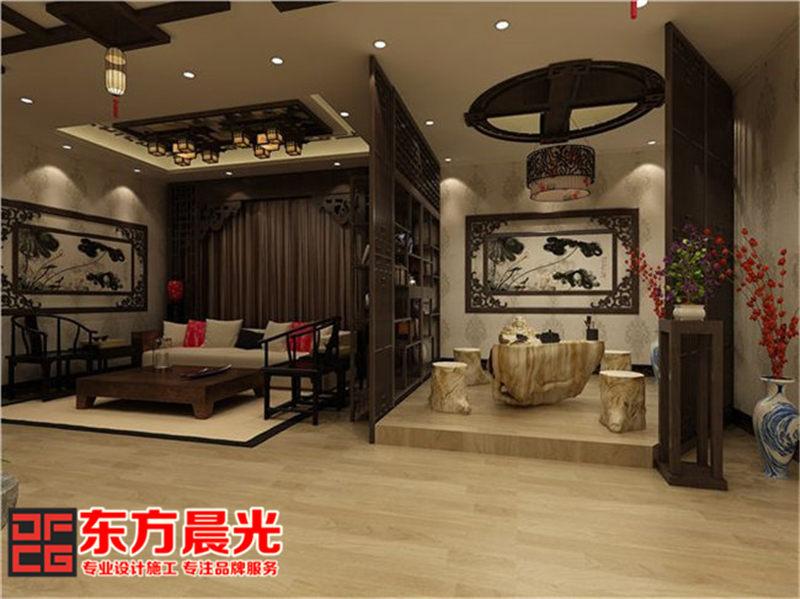 私人会所中式装修——客厅