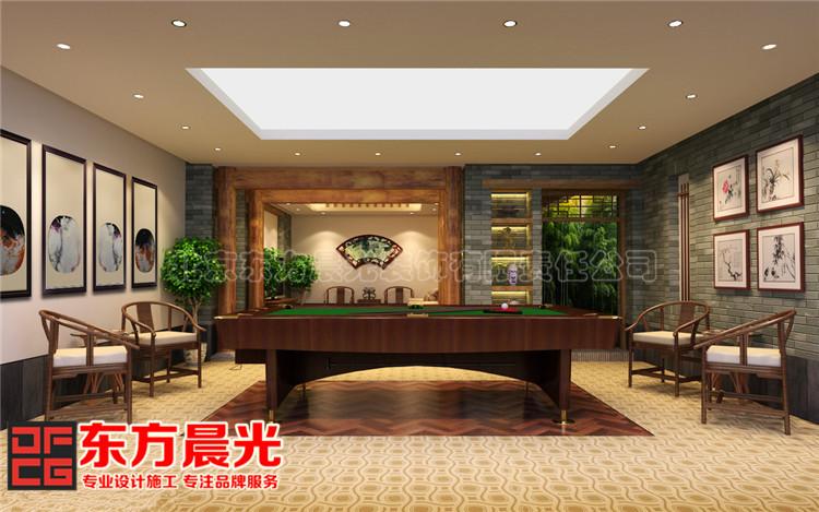 中式私人会所装修设计休闲娱乐自由自在