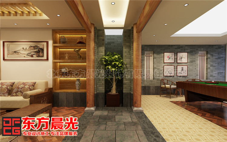 中式私人会所装修设计古典芬芳