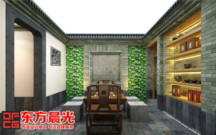 中式私人会所装修设计一室葱郁悠然