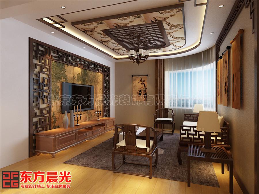 中式风格会所装修设计客厅设计干净整洁