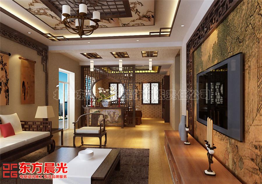 中式风格会所装修设计芳香淡雅之客厅