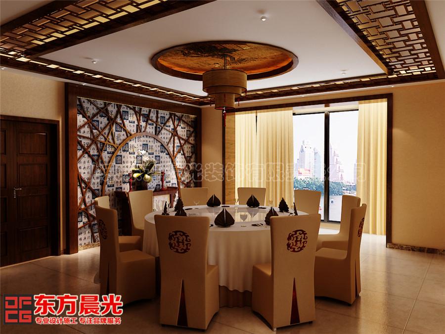 中式风格会所装修设计中式餐厅设计美观大方