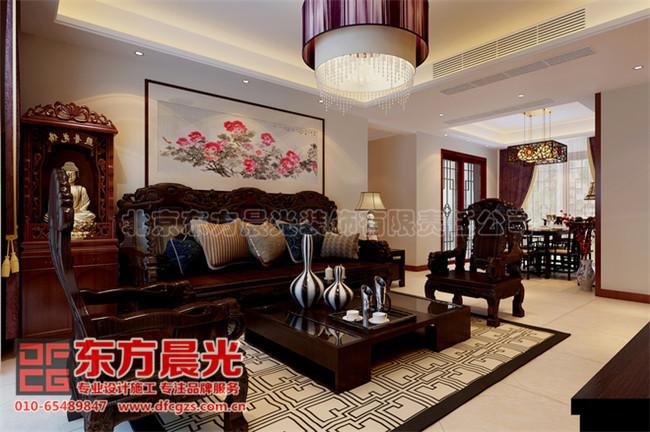 艺术脉络传承的中式别墅装修