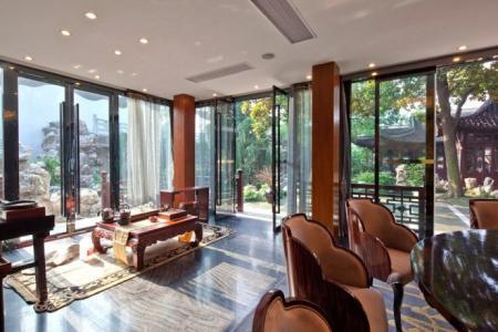 中式会所庭院设计效果图 感受去繁存简意境