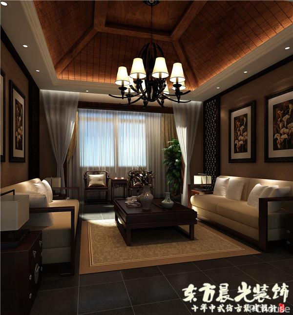 中式会所复古设计装修效果