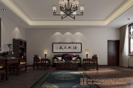 中式四合院会客厅设计效果图