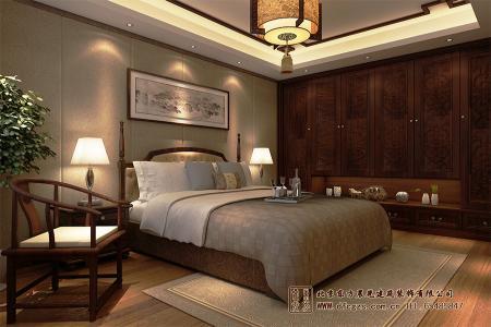 中式会所卧室装修效果图