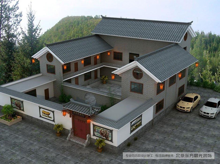 农村四合院别墅设计效果图