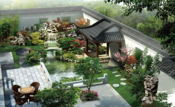 苏式四合院园林