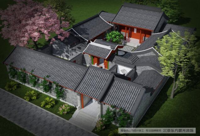 """只要提到四合院,所有人想到的都是北京四合院,造成这样印象的原因在于,四合院的结构十分独特,在中国传统住宅建筑中具有典型性和代表性。所谓四合,""""四""""指东西南北四面,""""合""""即四面房屋围在一起,形成一个""""口""""字形结构。"""