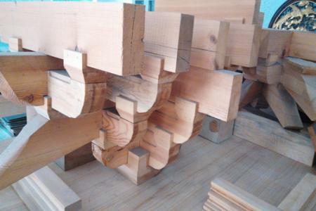 实木斗拱模型