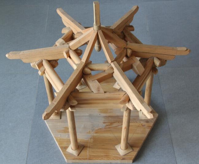 六角亭模型