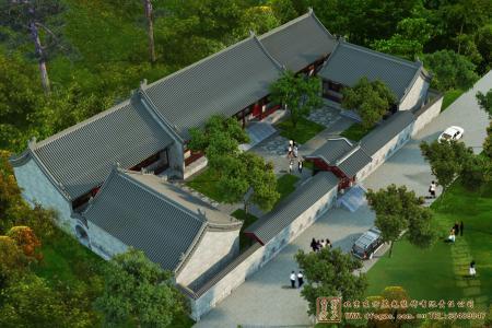 辽宁葫芦岛四合院设计效果图