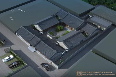 山东临沂四合院设计效果图