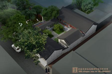 河北沧州肃宁四合院设计效果图