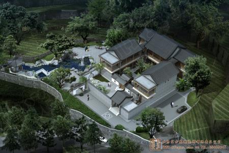 四川泸州古蔺四合院设计效果图