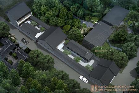 河南邓州四合院设计效果图
