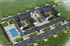 农村一层小型四合院建筑设计工程