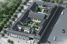二层四合院建筑设计工程