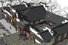 二层北京传统四合院建筑设计工程