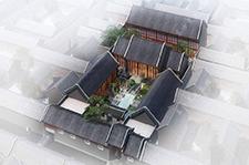 二进中式四合院建筑设