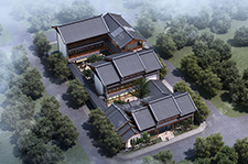 古典中式风格四合院别墅设计